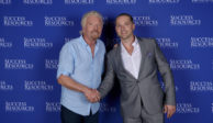 Richard Branson and Darryn Van Hout in Brisbane